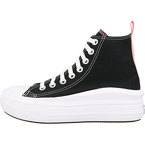 Converse Chuck Taylor All Star Move Hi Negro/Rosa (Black/Pink Salt) Tela 38½ EU