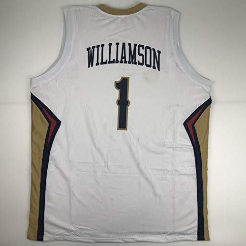 Unsigned Zion Williamson New Orleans White Custom Stitched Basketball Jersey Size Men's XL New No Brands/Logos