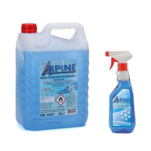 PCP24 Scheibenklar 5 Liter Scheibenfrostschutz bis -30°C + 500ml Scheibenenteiser