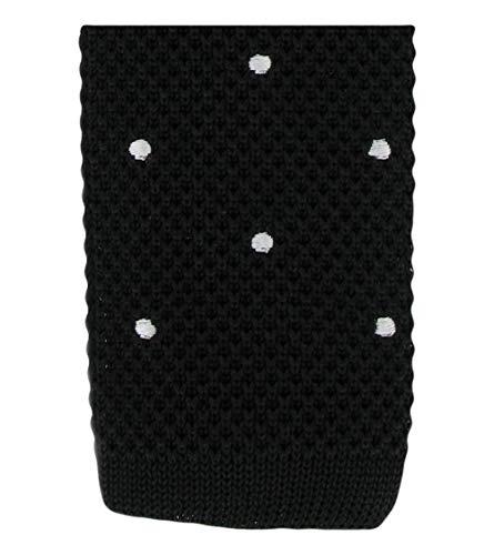 Michelsons of London Black/White Spot conception cravate de