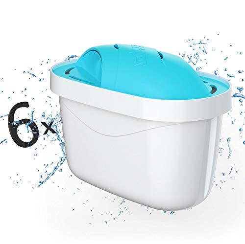 Wessper Filtros de Agua, Color Blanco y Azul, 6 Unidades