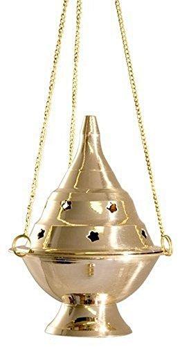 """Accessories - Brass Burners Hanging Censer/Charcoal Incense Burner, 4.5"""" H"""