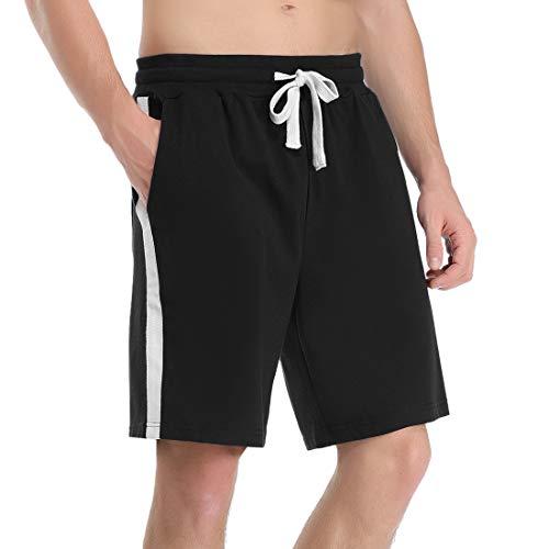 Pantaloni Corti in Cotone 100/% Aibrou Pantaloncini Sportivi da Uomo Pantaloni Casual da Uomo per Jogging Tennis Corsa Fitness e Allenamento