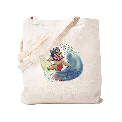CafePress–Hawaii Surfer, Leinwand natur Tasche, Reinigungstuch Einkaufstasche S khaki