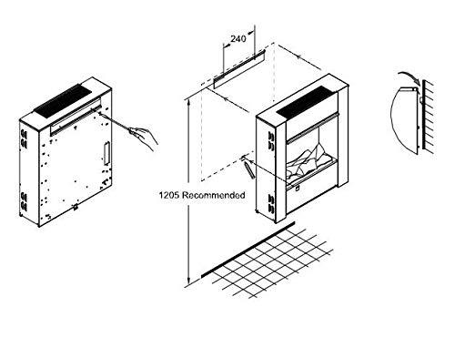 Glen Dimplex Dimplex Pared Fuego Motor L Opti-Myst [ Pieza Chimenea Eléctrica para la Montaje en la Pared ]: sin Rejilla…
