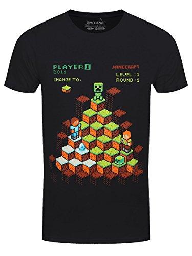 JINX Minecraft Kinder T-Shirt Miner Mountain Retro Baumwolle Schwarz - 164/170