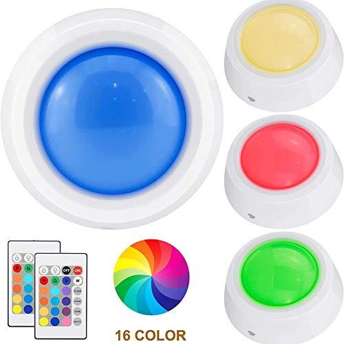 HONGLONG Push-Lampe, die RGB-Licht Berührung, batteriebetriebene Lampe Schrank, drahtlose Beleuchtung, LED-Lampenlicht, Pegel-Fernbedienung Farb-Licht, Lampe Klassenzimmer Stimme, Mittel 4