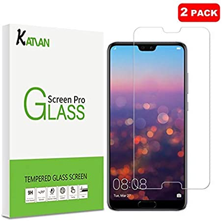 Katiano [2pezzi] Huawei P20Pro, pellicola in vetro temperato ad alta definizione [0.3mm] [anti-graffio] [anti-bolle] [] antiriflesso e anti-impronte pellicola protettiva ultra sottile per Huawei P20Pro