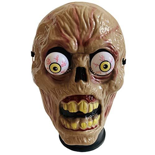 Lazzboy Maske Totenkopf Halloween PP Mask Novelty Creepy Spring Eyeball Masquerade Mask for Party, Prom (Maske)