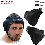 FITAXIS Casque de Boxe en néoprène pour Lutte, MMA, Grappling, Rugby, Judo, Shihan Budo - Parfait pour Les Hommes et Les Femmes, Noir, Standard