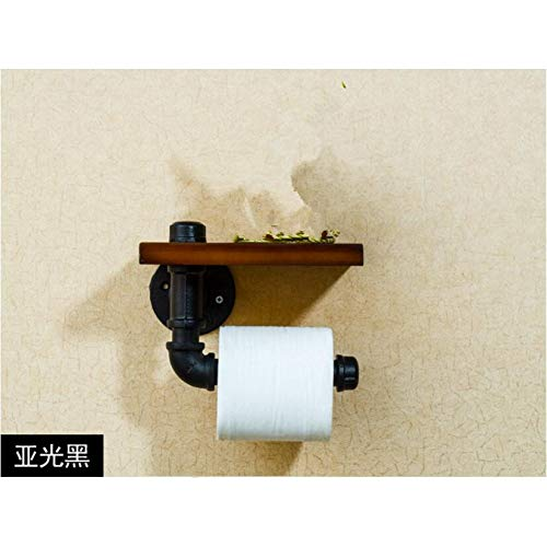 CUPWENH Creative Pared De Hierro Accesorios de baño con Soporte de pañuelos Vintage bastidores de Montaje de punzón ✅