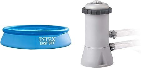 Intex 56920 Piscina Hinchable Easy Set 3853 L Sin Depuradora + 28604 Depuradora Cartucho Filtros Tipo A, 2006 L/H