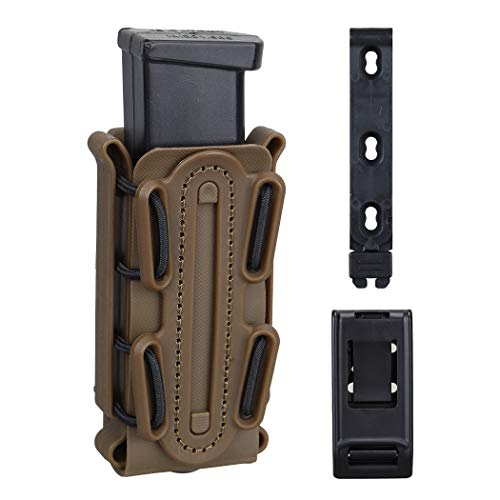 IDOGEAR 9mm Pistol Mag Pouch Handgun Magazine Pouch Tactical Fastmag Soft Shell Mag Carrier Hunting Airsoft Gear