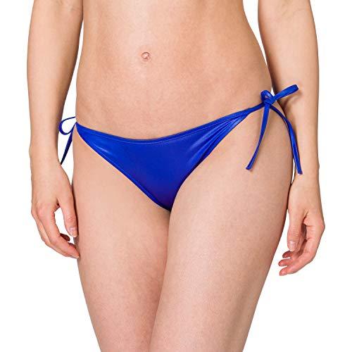 Calvin Klein String Side Tie Parte Inferiore del Bikini, Blu Zaffiro, L Donna