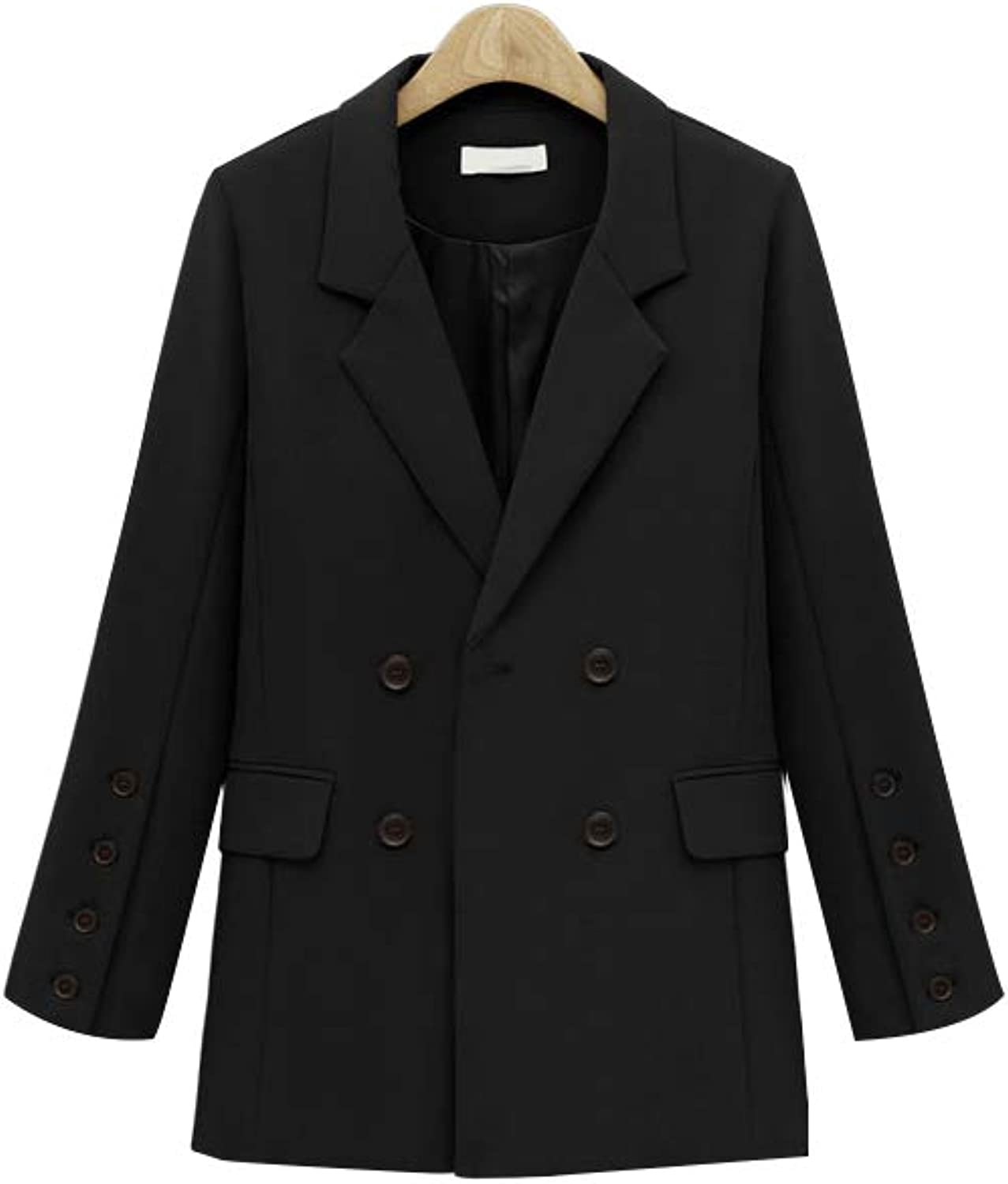 Women Lady Single Breasted Polo Collar Trench Coat Female with Pocket MidLong Long Sleeve Casual Style Office Jacket Outwear