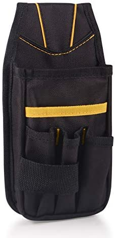 Winjun 1 PCS Black Oxford Waterproof Tools Belt Bag Pocket Pouch with Clip for DIY Electricians Carpenters Joiner Builders