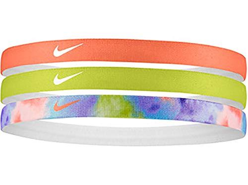 Nike Bedrucktes elastisches Haarband, mehrfarbig, 3 Stück