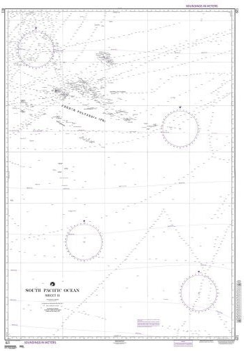 NGA Chart 621  South Pacific Ocean (Sheet II) by National Geospatial-Intelligence Agency