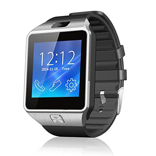 Netspower nuevo diseño DZ09 Bluetooth reloj inteligente pulsera del abrigo reloj teléfono para Smartphone Android Samsung S3 / S4 / S5 Nota 2 / Nota 3 Nota 4 , HTC, Sony ( DZ09 Negro)