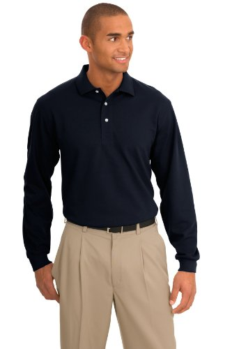 Port Authority® Rapid Dry™ Long Sleeve Polo. K455LS Classic Navy L