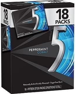 5 Gum, Cobalt (15 per pk., 18 pk.) ( Cooling peppermint flavor )