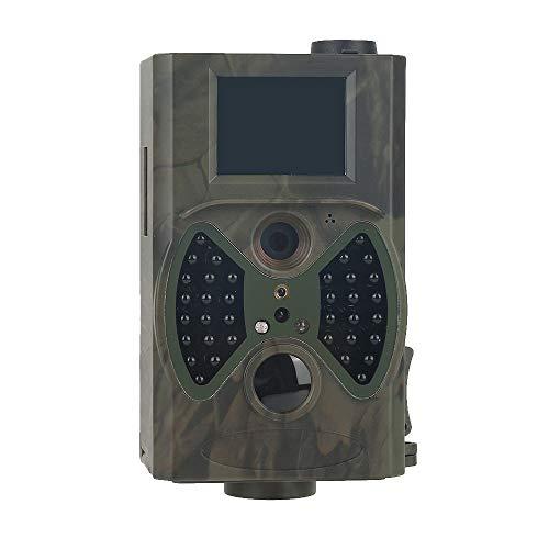 KUANGQIANWEI Wildkamera mit bewegungsmelder nachtsicht HC300M Jagd-Hinterkamera HC300M Full HD 12MP 1080P Video Night Vision MMS GPRS Reconnaissance Hunter Kamera (Color : Light Green)