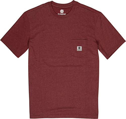 Element Herren Tees Basic Pocket Label S, Port Heather, XL, N1SSG3