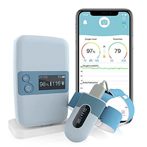 Wellue BabyO2 S2 - Baby Monitor - Monitors Oxygen & Heart Rate for Baby Safety, Fits Babies 0 to 3 Years Old