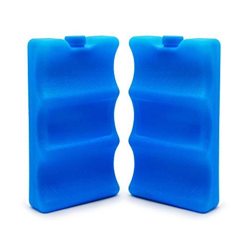 JMEXSUSS Set of 2 Reusable Ice Long Lasting Packs for Breastmilk Storage, Cooler Bag, Breakfast, Lunch, Baby Bottles, Soda, Can Beer(02) …
