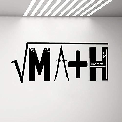 JXWR Matematica adesivo Decalcomania Logo decorazione Aula decorazione matematica Poster insegnante di scuola Regalo Decalcomania del vinile wandkunst murale 57x24 cm