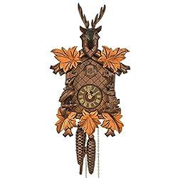 Anton Schneider Cuckoo Clock 5-leaves, head of a deer