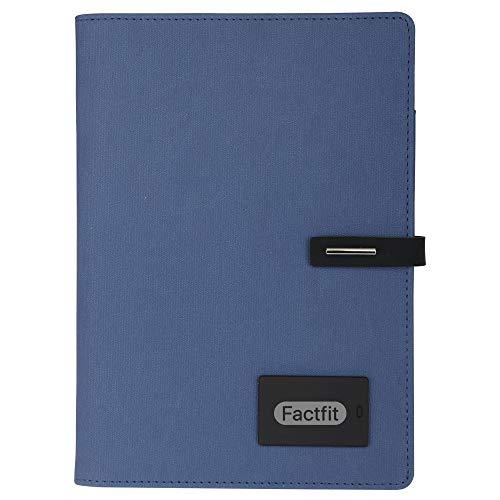 Notizbuch-Geschenkset mit Powerbank, 8000 mAh, mit 7 Farben beleuchtetem Logo + Kunststoffstift