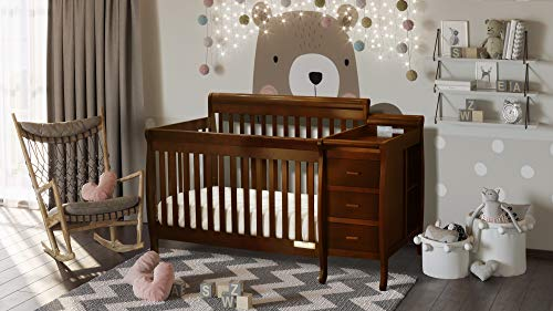 For Sale! Athena Kimberly 3 in 1 Crib and Changer with Toddler Rail, Espresso