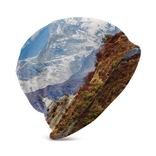 Berretto Unisex Cappello Caldo e Accogliente Bellissimo Paesaggio Montagne dell'Himalaya Tenzing Buddista 3D Bambini Moda Berretto Adatto per Bambini di età Compresa tra 3-15
