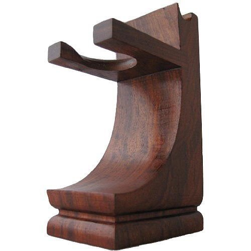 Mission Style Wood Shave Stand for Razor and Brush