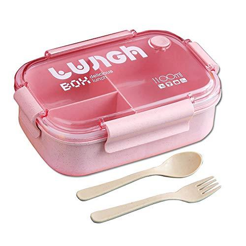 HIQE-FL Auslaufsichere Brotzeitbox,Lunchbox mit Fächern Auslaufsicher,Lebensmittelbehälter mit Deckel,Bento Box Lunchbox Kinder,Brotdose,Vesperdose für Kinder