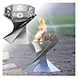 WXJ Outdoor Foldable Fire Pit with Fence, Portable Accessory for Camping, Incinerator for Trekking, Backyard, Garden and Party, Carrying Capacity 10kg