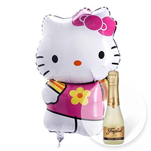 Helium Ballon Hello Kitty und Freixenet Semi Seco