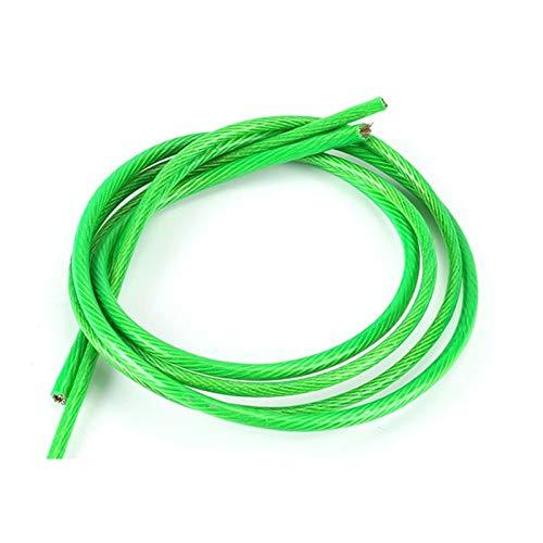 5 Coated Meter alambre de acero verde PVC cuerda de alambre flexible cable de acero inoxidable for Tendedero Greenhouse Grape Estante Shed 2 mm 3 mm Cuerda De Alambre ( Size : Diameter 3.5mm wire )