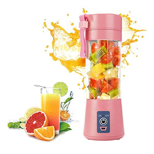 MZ Electric Safety Juicer Cup, Portable Blender Single Serve, Fruit Juice Mixer, Usb Rechargeable, Six Blades in 3d,for Family Outdoor.3.1 * 3.1 * 9.2in
