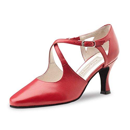 Werner Kern - Damen Tanzschuhe Ines 6,5 Leder Rot [UK 5,5]