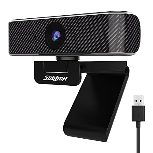 Soulion C20 Webcam with Microphone, Full HD 1080p Webcam Camera with Slide Privacy Cover for Streaming Calling Gaming Conferencing, USB Computer Web Camera with Fixed Focus for PC Laptop Desktop