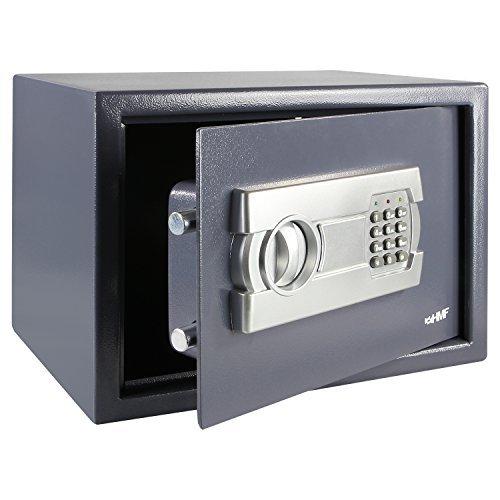 HMF 4612212 Möbeltresor mit Elektronik Zahlenschloss | 35 x 25 x 25 cm | Anthrazit