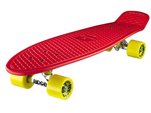 Ridge - Skateboard Big Brother Nickel Mini Skate Cruiser,rosso,completamente assemblato,skatebord unisex