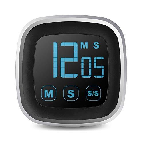 Temporizador de gestión de tiempo, magnético, gran pantalla LED digital, temporizador de cocina (color: negro)