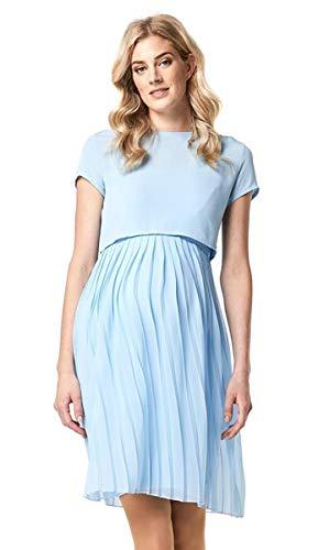 ESPRIT Maternity Damen Kleid Umstandskleid Cocktail Umstandsbrautkleid Brautkleid Brautmode Standesamtkleid (42, Curacao Blue (440))