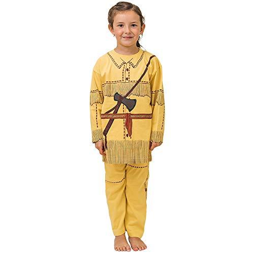 Pijama de Indio Nativo Americano y Ropa Casera Divertida (7-8 Anõs)
