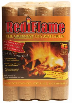 Rediflame 00101 12 Pack 100% All Natural Fire Log Up To 6 Hours Burn Time