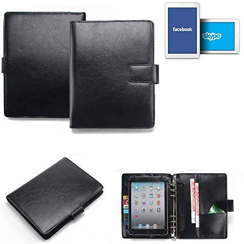 K-S-Trade® Tablet-Hülle Und Organizer Kombination Für Odys Junior Tab 8 Pro Mit Ringbucheinlage Schwarz. Kunstleder Qualitätsware (1x)