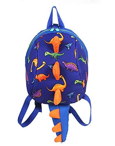 LESNIC Kinderrucksack Klein Kleinkind Junge Kindergarten Rucksack Dinosaurier mit Anti-verloren Leine Baby Jungen und Mädchen 1-6 Jährige (blau)